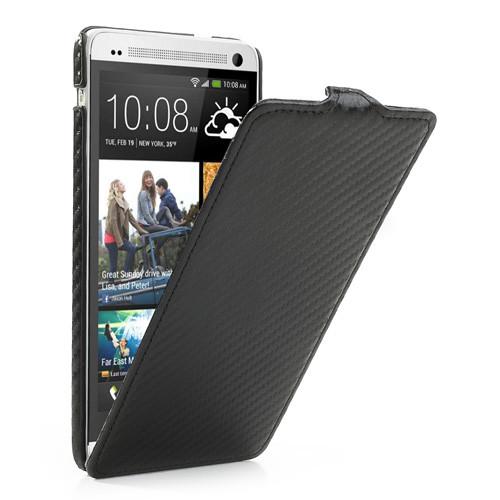 Чехол HTC ONE MAX вертикальный флип, карбон