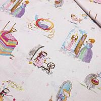 """Хлопковая ткань """" Истории принцесс"""" №376"""