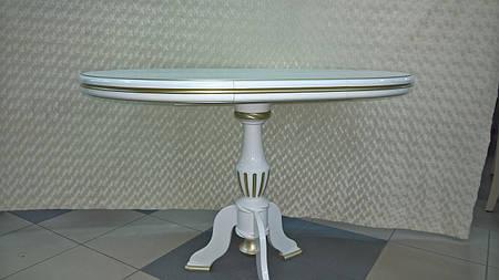 Стол ТЕТ-А-ТЕТ (слоновая кость+золотая  патина)