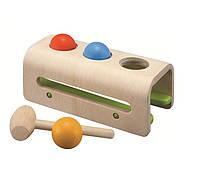 """Деревянная игрушка """"Забивалка с шарами и молотком"""", PlanToys, фото 1"""
