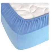 Простынь трикотажная на резинке хлопок 160х200 синяя, фото 2
