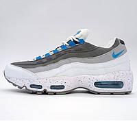 Мужские кроссовки  Найк аир макс 95 Nike air max 95 бело синие 104220-108