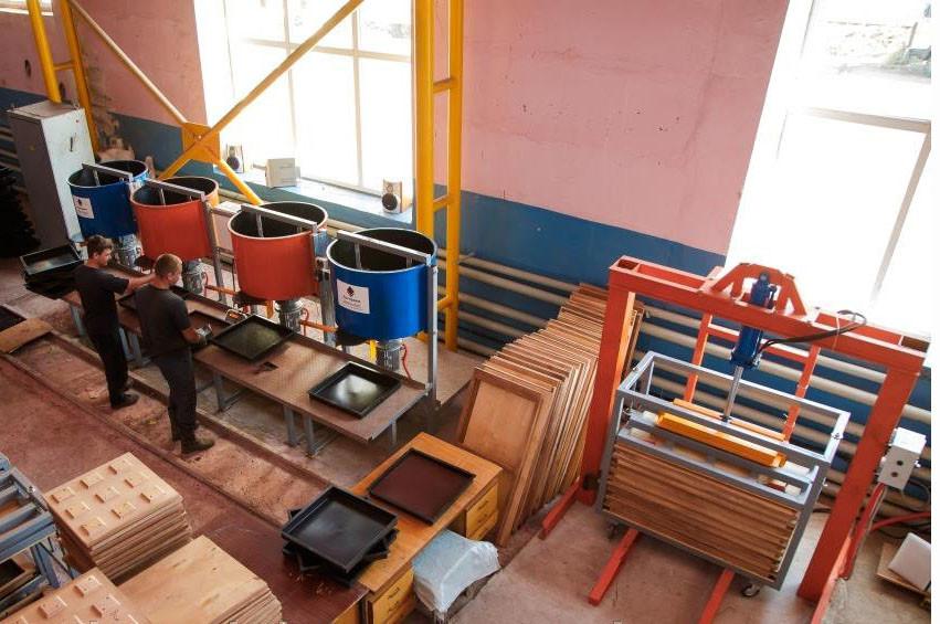 Мини производство резиновой плитки