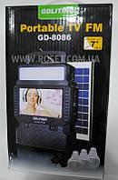 Портативный аккумулятор с солнечной панелью TV+FM-радио GDLiting Portable TV FM GD-8086