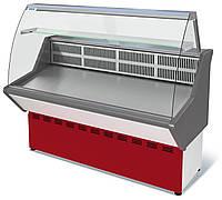 Витрина холодильная среднетемпературная ВХС-1,2 Нова (с гнутым стеклом,нержавейка)