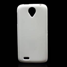 Чехол на Lenovo S820 силиконовый матовый  Белый