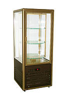 Кондитерский шкаф R120C Carboma (шокол-золот.)