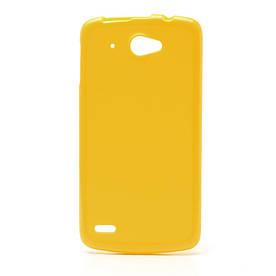 Чехол на Lenovo S920 силиконовый матовый Желтый
