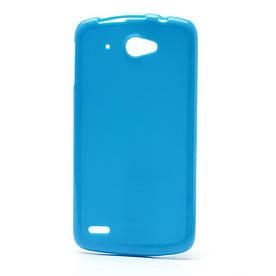 Чехол на Lenovo S920 силиконовый матовый Голубой