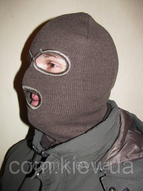 Шапка-маска трикотажная темно-зеленая Remington