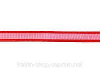 Лента из органзы с атласной кромкой, ширина 6 мм, 1м - Красная