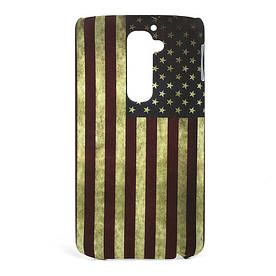 "Чехол пластиковый ""Ретро флаг Америки"" на LG Optimus G2 D802"