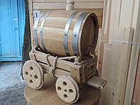 Бочка дубовая 10 литров+телега.