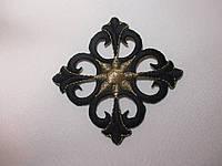 Хрестик вишитий, алікаця клейова 7,5х7,5 чорний, фото 1