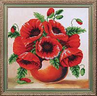 """Набор для вышивания бисером цветы """"Комплимент Маки"""""""
