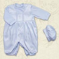 Крестильный костюм Агуша для мальчика Интерлок Цвет белый, молочный рамер 56 Бетис