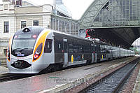 Реклама в поездах Хюндай