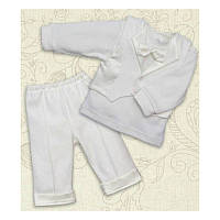 Праздничный костюм Міні Бос для мальчика Интерлок Цвет белый, молочный рамер 56-68 Бетис