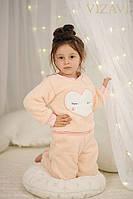 Махровый детский домашний костюм - пижама Сердце 4021 Юнона