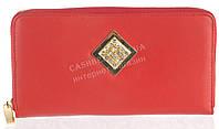 Стильный элитный женский кожаный кошелек барсетка высокого качества SALFEITE art. 8548N-red красный