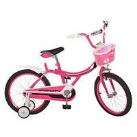 Велосипед PROFI детский 18д. 18BX406-2 (1шт) малин,каретка америк, полная защита цепи,пласт,
