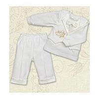 Праздничный костюм Міні Бос-2 для мальчика Интерлок Цвет белый, молочный рамер 56-68 Бетис