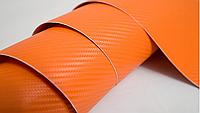 Пленка под карбон 3D оранжевая