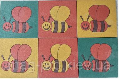 Резиновая плитка с изображением