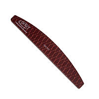 Пилка-змея для ногтей PNB 100/180 Brown, полукруг