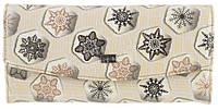 Стильный лаковый женский кожаный кошелек высокого качества H.VERDE art. 2447-E31 снежинки