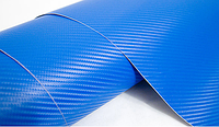 Пленка под карбон 3D синяя