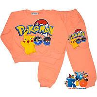 """Костюм детский """"Pokemon"""" , трикотаж , для девочек от 1-4 лет"""
