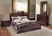 Кровать дубовая двуспальная Флоренция 1,6 м  каштан