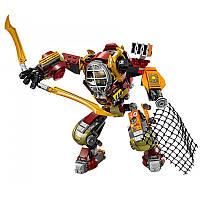 Конструктор Ниндзя 06035 Робот-спасатель, 478 деталей, 4 мини-фигурки, киборг, сетка, оружие