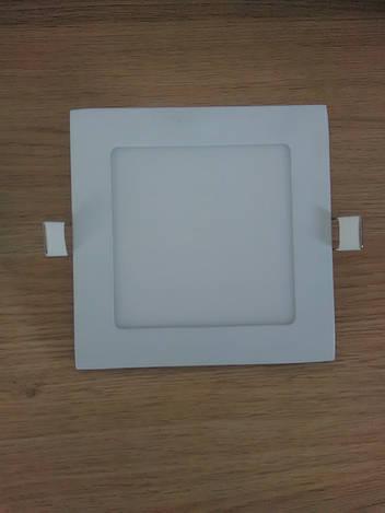 Светильник врезной LED  Downlight  9W 6400K  размер 150*150 мм  квадратный  алюминиевый корпус