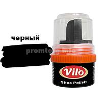 Крем-блеск для обуви Vilo 60ml банка (черный)