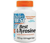 Тирозин Doctor's BEST Л-Тирозин Best L-tyrosine 500 mg (120 veg caps)