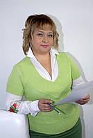 Джемпер вязаный зеленый жилет