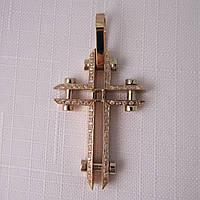 Крест золотой 585* с цирконами
