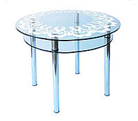 Стол стеклянный КС-3 (пескоструй)  Антоник