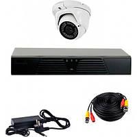 AHD комплект наблюдения на 1 уличную камеру CoVi Security HVK-1004 AHD PRO KIT, 1.3 Мп