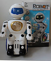 Робот на батарейках, свет, звук, музыка, в коробке, фото 1
