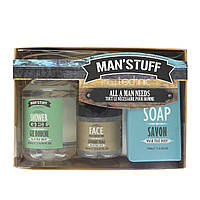 Подарочный мужской набор Technic Man' Stuff All a Man Needs Gift Set with Face Scrub, Shower Gel & Soap