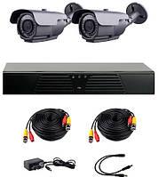 AHD комплект наблюдения на 2 уличные камеры CoVi Security HVK-2004 AHD PRO KIT, 1.3. Мп