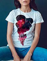 """Женская футболка """"Космический тигр"""""""