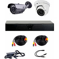 AHD комплект наблюдения на 2 уличные камеры CoVi Security HVK-2005 AHD PRO KIT, 1.3 Мп