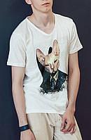 """Мужская футболка """"Hitman cat"""""""