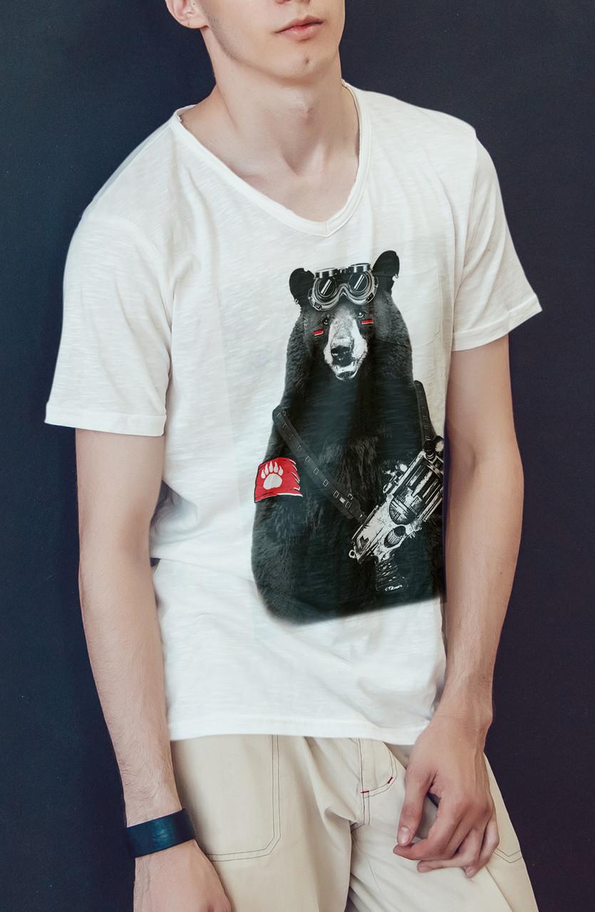 "Мужская футболка ""Медведь боец"""