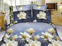 Полуторный набор постельный (рисунок Белый цветок)