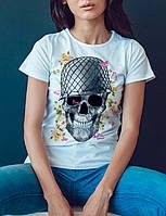 """Женская футболка """"Военный череп"""""""